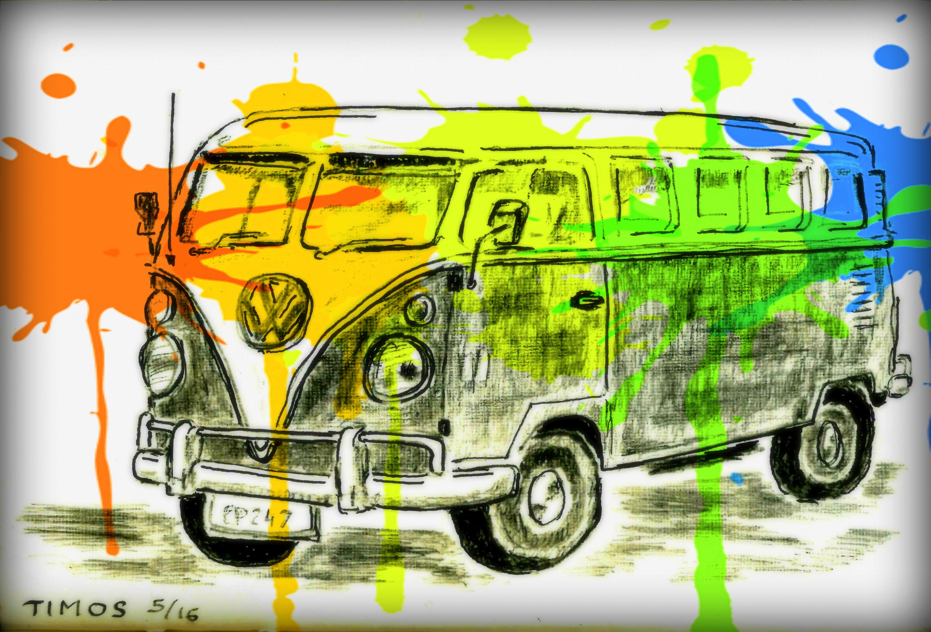 Old VW camper
