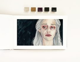 Portrait of Daenerys from the Game of Thrones