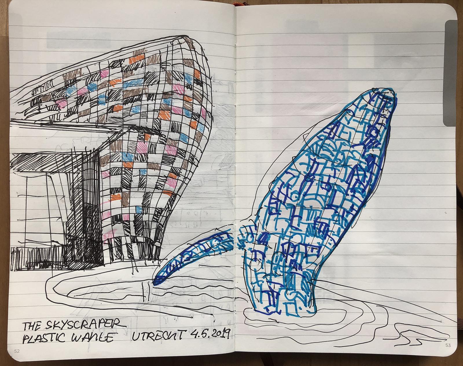 Plastic whale in Utrecht