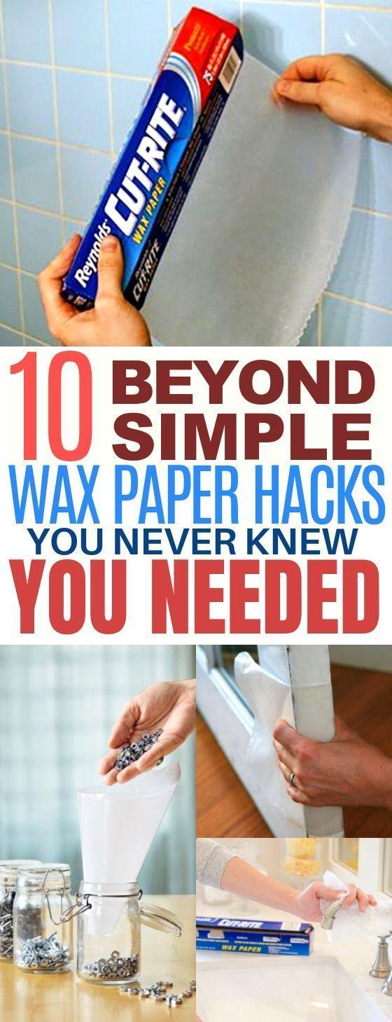 10 Genius Wax Paper Life Hacks You'll Wish You Knew Sooner