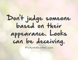 Dont Judge Someone