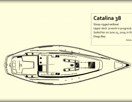 Catalina 38 – upper deck