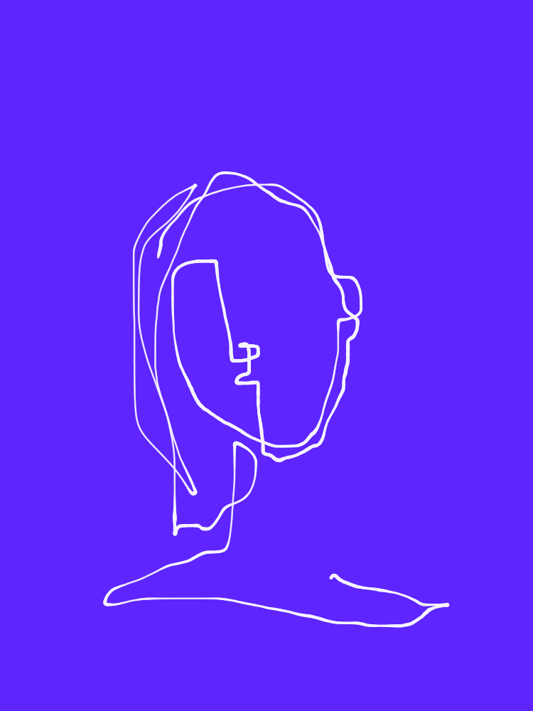 one-line portrait 6
