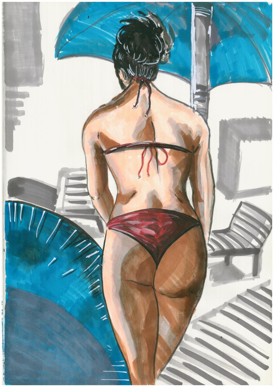 Vanessa Hudgens In A Red Bikini