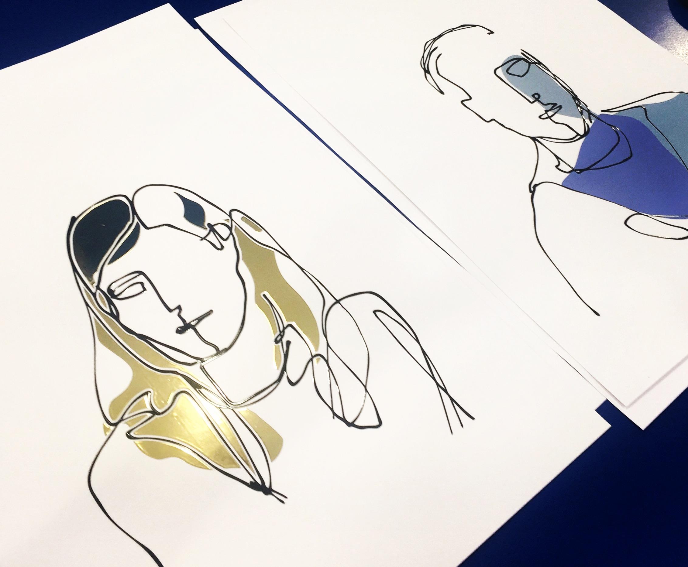 one-line portrait 2-3