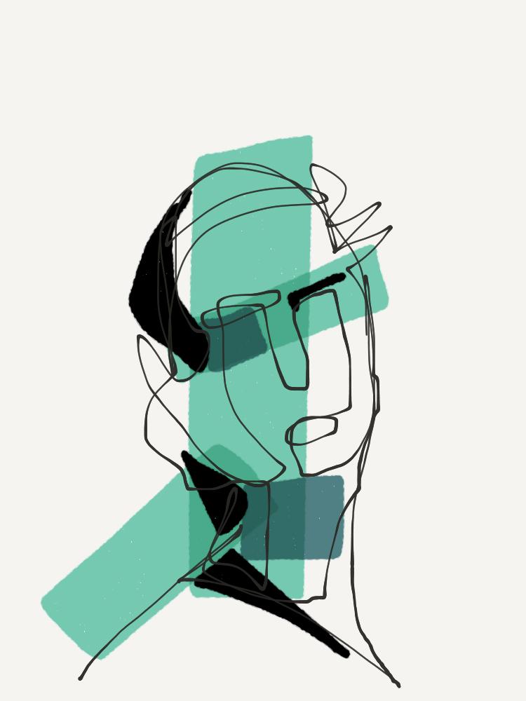 one-line portrait 7