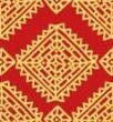 Orange Batik Color Art