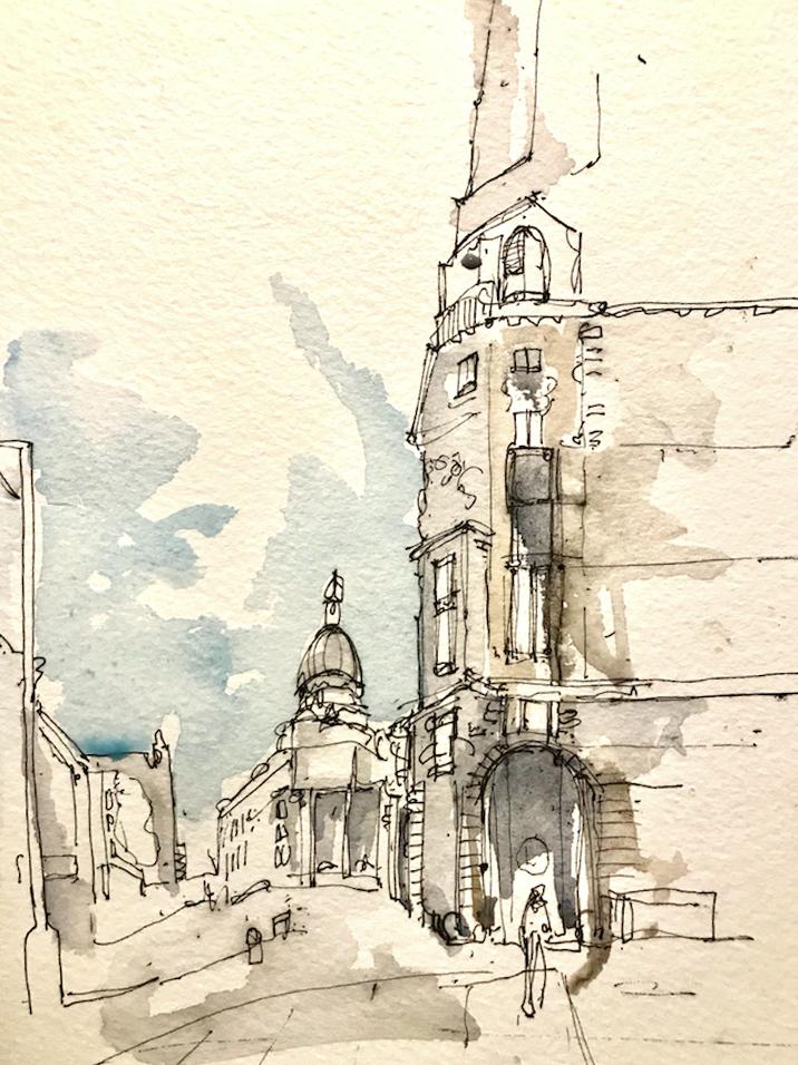 Hoxton, Sketching
