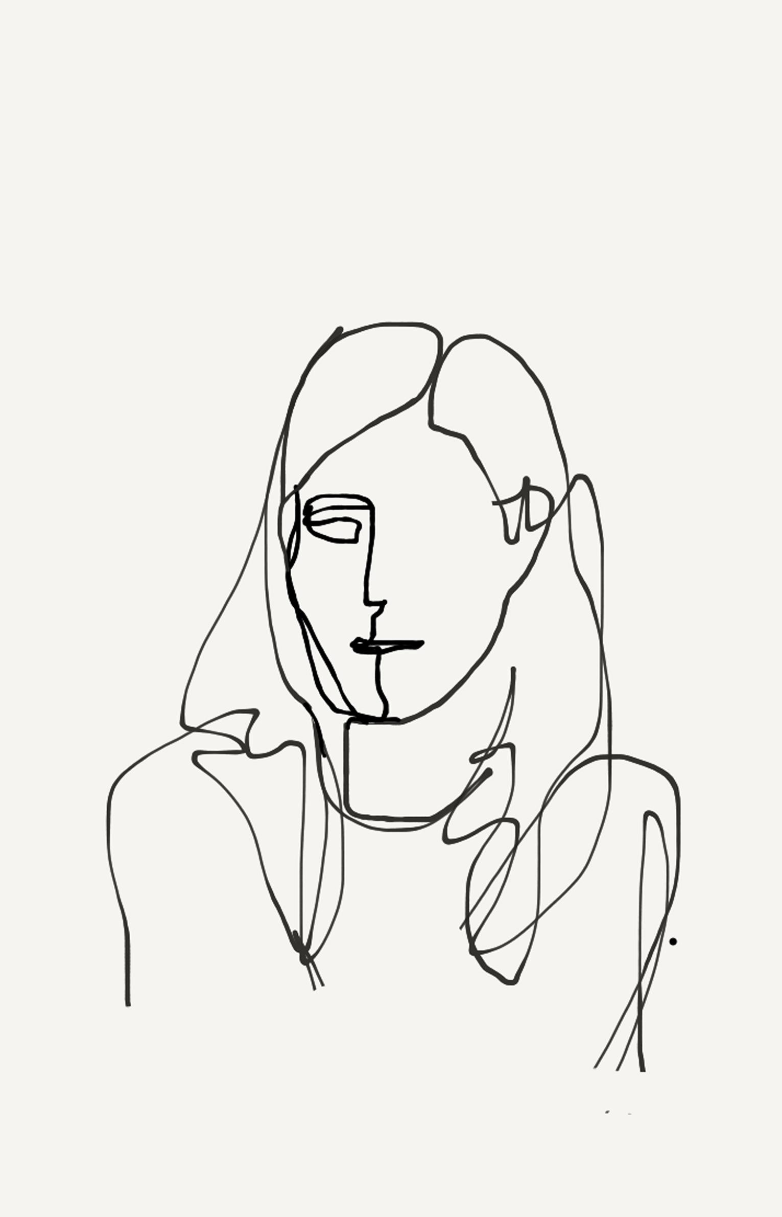 one-line portrait 2