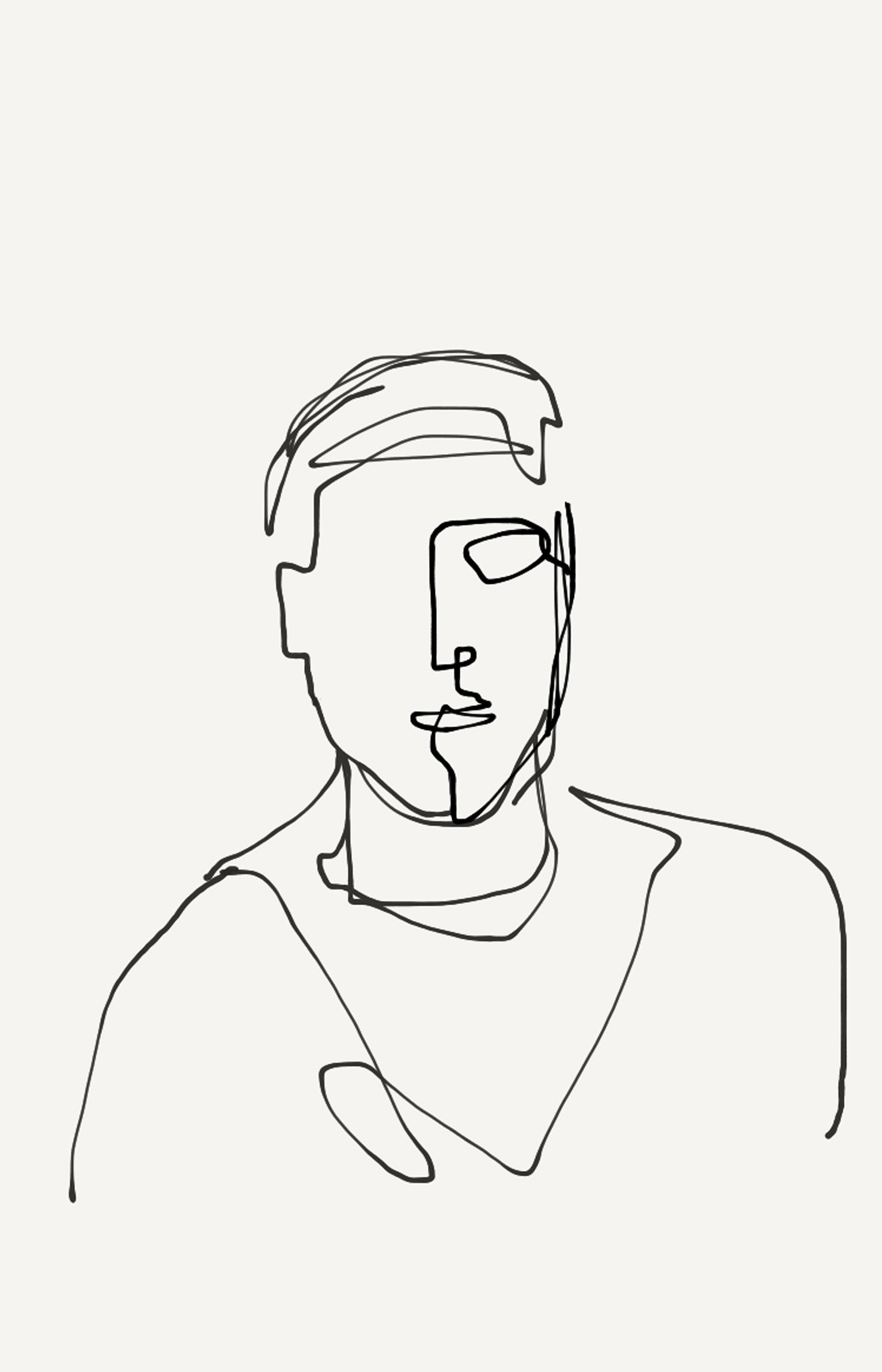 one-line portrait 3
