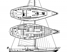 Catalina 38 – full sails