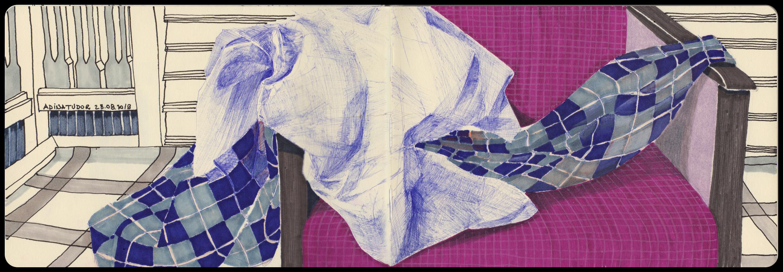 Cloth on my purple armchair