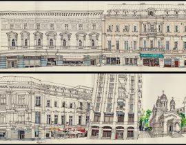 Buildings on Victoriei Street, Bucharest
