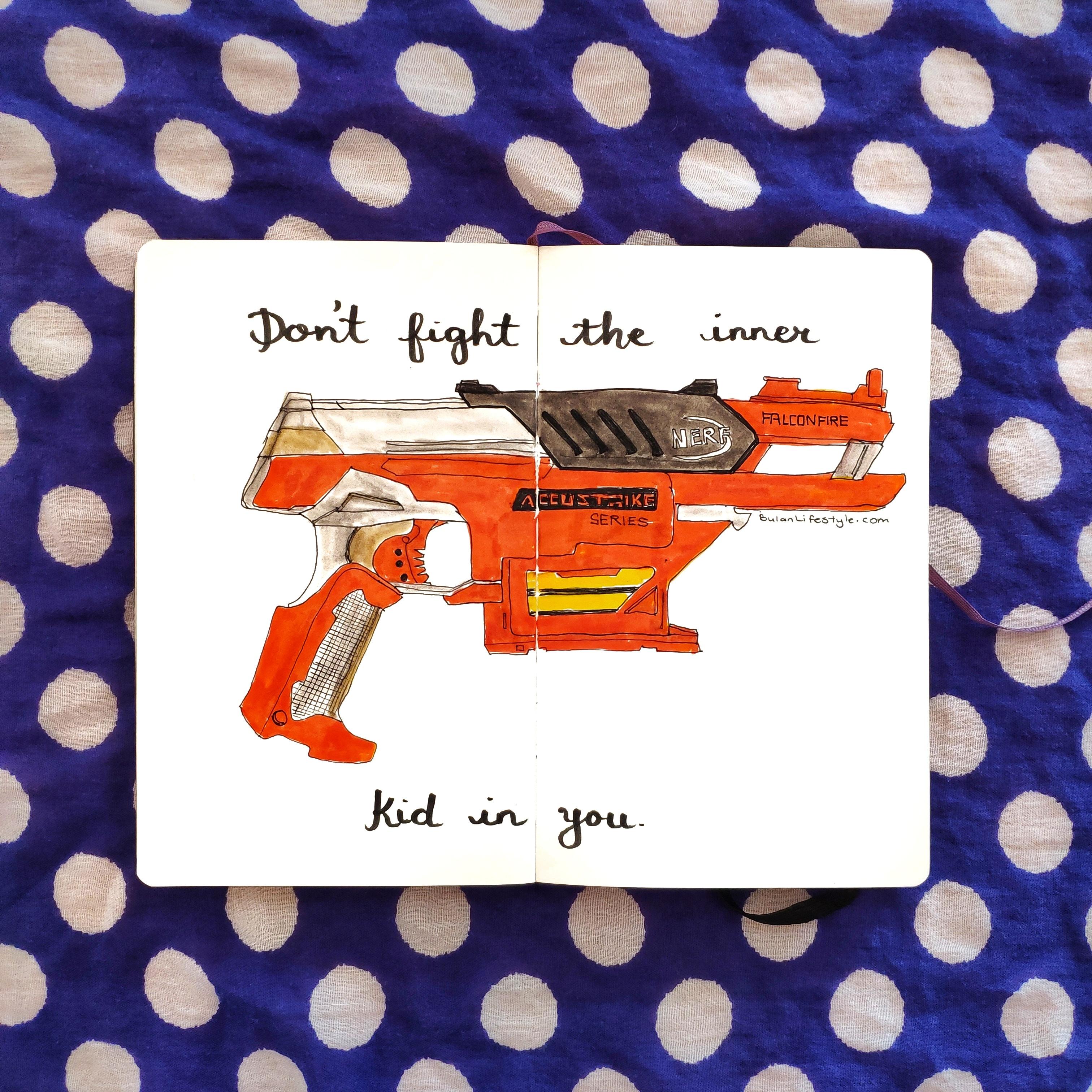 Orange nerf gun