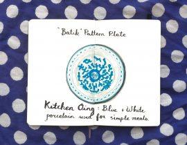 Batik plate