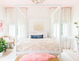 Light Pink Living Room Accessories
