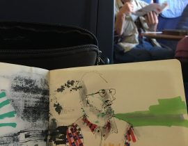 man sitting in the train