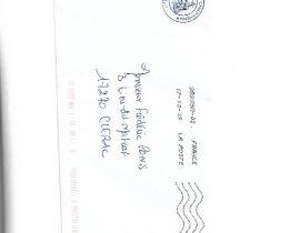 Enveloppe lettre Mairie de Chepniers du 15.10.2019