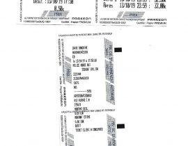 Tickets stationnement Saint-Emilion du 13.10.2019