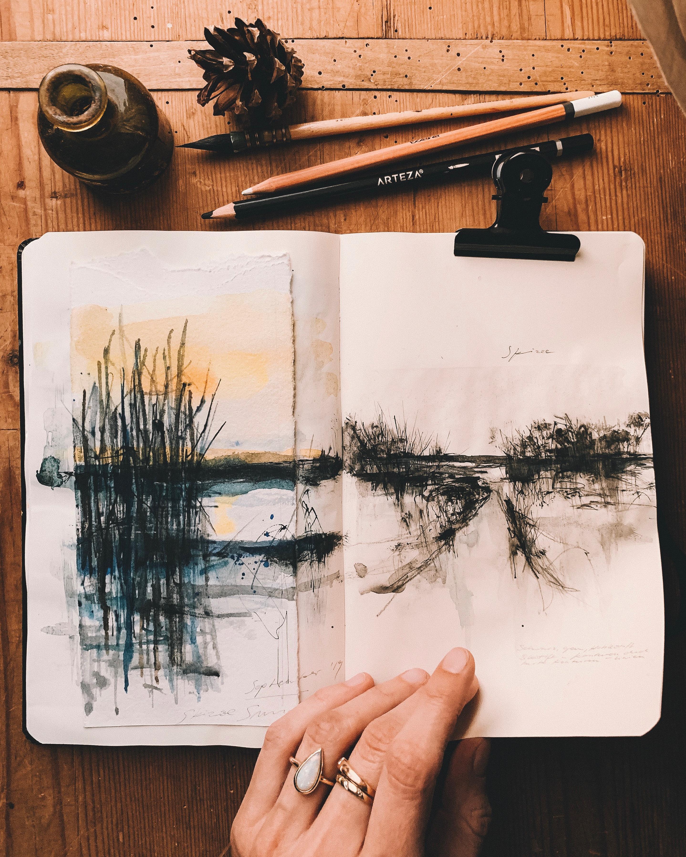 Sketch  | Watercolors + Black Ink