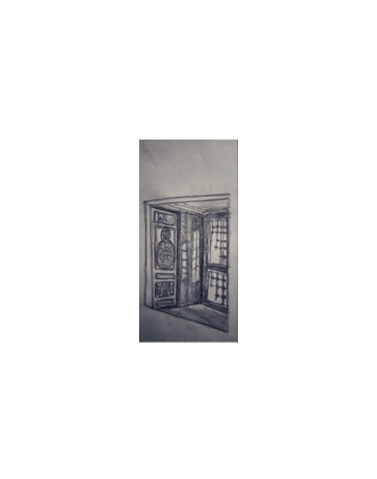 door in Kalavryta, Greece