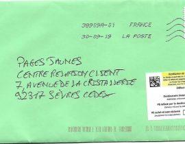 Pages Jaunes retour courrier