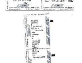 Tickets stationnement Saint-Emilion du 11.11.2019