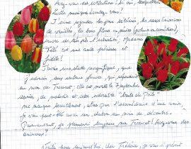 Evelyne BALAY lettre verso du 04.11.2019