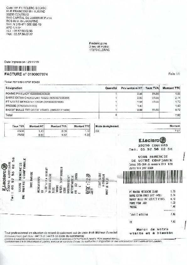 Leclerc Facture_0190007874