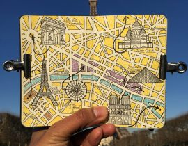 City Map Drawing of Paris