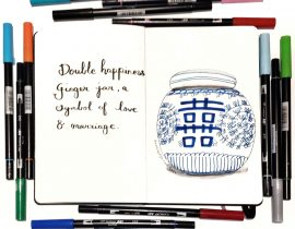 Double happiness ginger jar