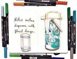 Retro water dispenser