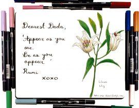 Gratitude flowers: lilies
