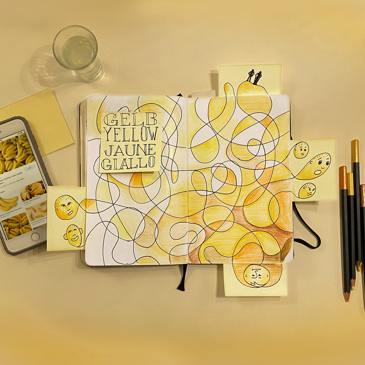 Doodles in Yellow