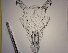 ram's skull | early jotting