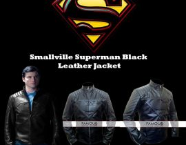 Smallville Superman Black Leather Jacket