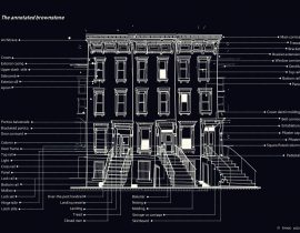 Brooklyn brownstones | night