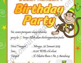 Mendesain undangan ulang tahun anak