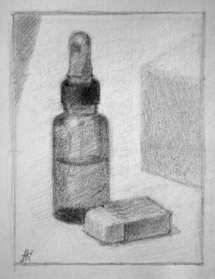 Still life by graphit pencil
