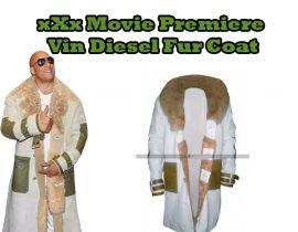 xXx Movie Premiere Vin Diesel Fur Coat