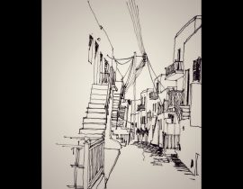 Ionian island alley