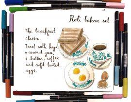 Roti Bakar set