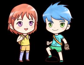 Anime comic drawing