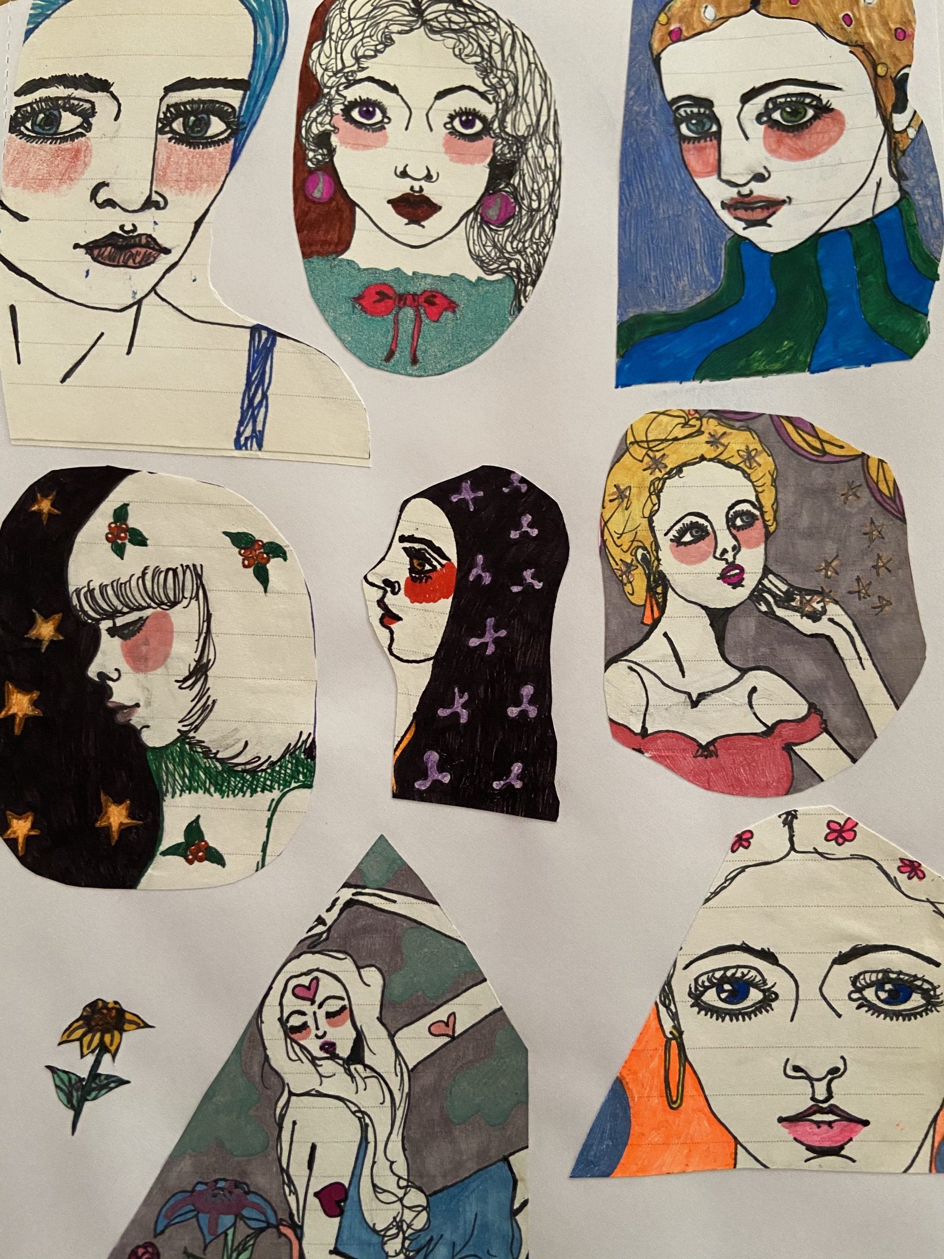 Collage Drawings 4