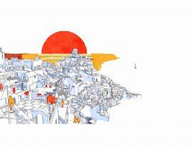 Santorini canvas   10.07.2020