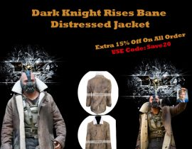 The Tom Hardy The Dark Knight Rises Distressed Bane Coat