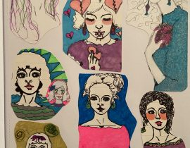 Collage Drawings