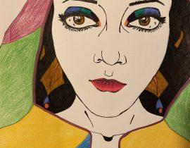 Colorful Self Portrait