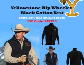 Yellowstone Rip Wheeler Black Cotton Vest
