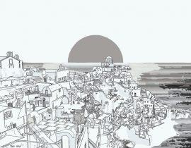 Santorini canvas | 10.18.2020